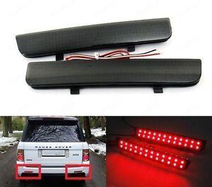 Black Smoked Bumper Reflector LED Rear Brake Stop Light For L322 Range Rover LR2