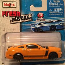 11643 Maisto Ford Mustang Boss 302 Fresh Metal Die-cast toy car scale 1/64 3+.