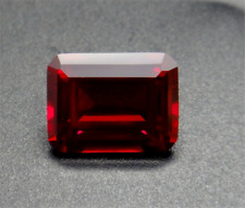 UNHEATED PIGEON BLOOD RED RUBY 1.65CT 6x8mm EMERALD CUT AAAAA+ LOOSE GEMSTONES.