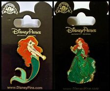 Disney Parks ARIEL Little Mermaid Pin Lot Dress Glitter - NEW