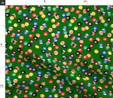 Billiards Pool Balls Pub 8 Ball Sports Fabric Printed by Spoonflower Bty