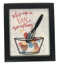 Whip Up A Little Something Kitchen Framed Print Art Home Decor Colorful