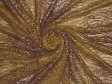 VINTAGE SARI PURE NET SAREE INDIAN DESIGNER HAND WOVEN BROWN DESIGN FLORAL DRESS