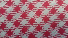 "Chiffon Yoryu Plaid/Check Fuchsia and White printed,55/56"" width, by the yard"