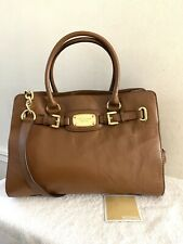Genuine Authentic Michael Kors Hamilton Large Tan Leather Tote Shoulder Bag