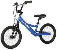 "Genuine STRIDER™ 16 Sport Balance Bike 19.5""-25.5"" Inseams BLUE w/ Rear Brake"
