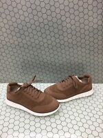 NIB Vionic FRESH JOEY Taupe Nubuck Lace Up Casual Comfort Sneakers Womens Size 7