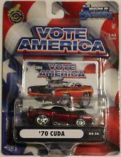 Nip '70 Cuda - Muscle Machines - Vote America - Democrat - 1:64 Scale - 04-36