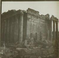 Libano Baalbek Ruines Foto Stereo Vintage Placca Lente VR2L3n4
