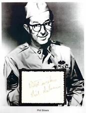 Phil Silvers Autograph Actor Chutzpah The Phil Silvers Show Sgt Bilko Do Re Mi