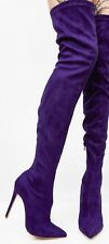 Purple Suede Knee High Boots Urban Outfitter SIZE US 5.5