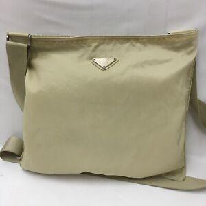 Auth Prada  Shoulder bag Nylon beige From Japan 1111*2451