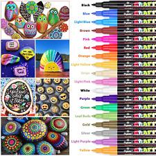 VERNICE penne, Ratel 18 Colori Penne Vernice Acrilica Contrassegno per progetti artistici FAI DA TE ARTE