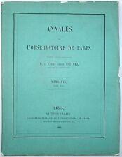 ERNEST MOUCHEZ Annales de l'Observatoire De Paris ASTRONOMY Tome XVI 1882
