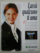 5/1996 PUB AIR DOLOMITI AIRLINE LUFTHANSA HOTESSE AIR STEWARDESS ITALIAN AD