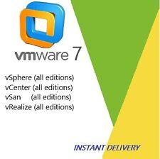 VMware 7 ESXi  vSphere 7 / vCenter 7 / vSan 7 /vRealize 7 / 30sec DELIVERY