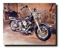 Vintage Harley Davidson Black Motorcycle Wall Decor Art Print Poster (16x20)