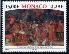TIMBRE DE MONACO N° 2313 ** PALAIS DE MONACO / FRESQUE AU PLAFOND COTE 7 €