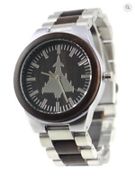 Typhoon motif watch, S/Steel case & strap, M/F, Friend or Foe, Miyota Quartz