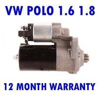 VW Polo 1.6 1.8 Sedán 1995 1996 1997 1998 1999 2000 2001 Motor de Arranque