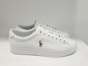 POLO RALPH LAUREN scarpa bassa in pelle - LONGWOOD -bianco white