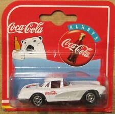 Coke Coca Cola Majorette 4 car set 57Chevy 2 58 Vettes 57 T-Bird