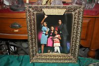 Antique Ormolu Lighted Picture Frame-Large Size-Detailed-President Obama Photo