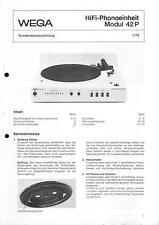 Wega Service Manual für Modul 42 P