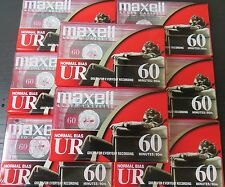 (Pack of 8) Maxell Normal Bias UR60 UR-60 Standard Size Cassette Tapes - 60 Mins