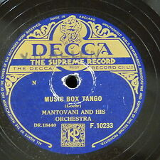 78rpm MANTOVANI ORCH music box tango / luxembourg polka