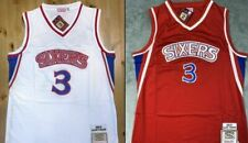 *Allen Iverson #3 Philadelphia 76ers 96-97 Rookie Throwback Jersey - White / Red