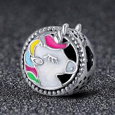 925 Sterling Silver gorgeous unicorn Pendant Charm for Women Bracelet Necklace