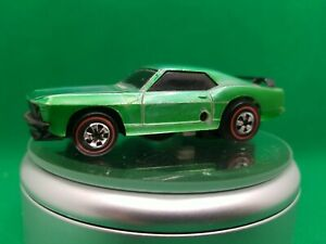 1970 Hot Wheels Sizzlers Green Mustang Boss 302, Battery Removed