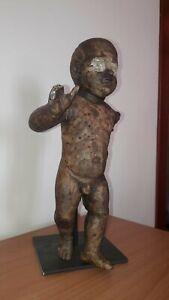 Bambinello napoletano antico in legno