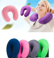 Cozy U Shaped Pillow Memory Foam Neck Head Car Flight Travel Nursing Cushion DS