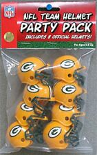 Green Bay Packers 8 Pack NFL Riddell Gumball Team Helmet Novelty Party Pack