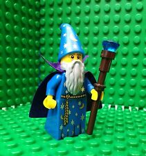 Lego Blue Wizard Minifigures Staff Gandalf Cape Castle Kingdoms 71007 Series 12