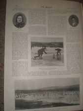 Photo article Lord Balfour of Burleigh curling at at Carsebreck 1897
