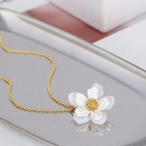 Double shell flower Kate Spade New York White Gold Flower Pendant Necklace