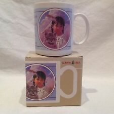 NIB Leanin Tree Coffee Mug Cup Inspirational Saying-Karen Thayer-Indian Girl-Cat