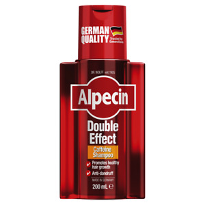 Alpecin Double Effect Shampoo 200mL Caffeine Anti-Dandruff Recharges Hair
