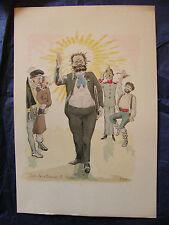 Simili Aquarelles L'oeuvre de Zola 1898 par H Lebourgeois Son excellence Rougon