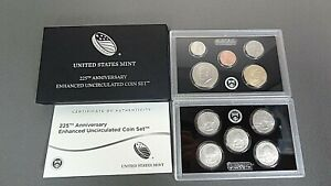 UNITED STATES 225TH ANNIVERSARY 2017-S ENHANCED UNCIRCULATED COIN SET