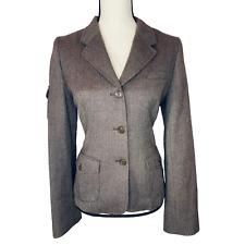 NWT Vintage G1 Equestrian Herringbone Tweed Riding Jacket Flap Pockets Size M