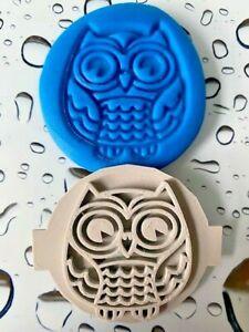 OWL BIRD WILDLIFE Fondant Icing Cupcake Cake Cookie Embosser Stamp