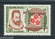 FRANCE - 1961 - timbre 1286, Fleurs tabac Nicot, neuf**