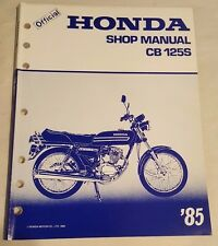 Honda cb125s manual ebay 1985 honda cb125s factor motorcycle service manual fandeluxe Image collections