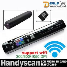 Handheld Portable A4 Photo Scanner 1050DPI Wireless WIFI Handyscan+8GB+Hard Case