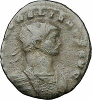 AURELIAN receiving globe from nude Jupiter 272AD  Ancient Roman Coin  i40841