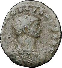 AURELIAN receiving globe from nude Jupiter 272AD  Ancient Roman Coin  i40841
